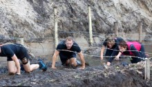 De Freya Active in een obstacle run